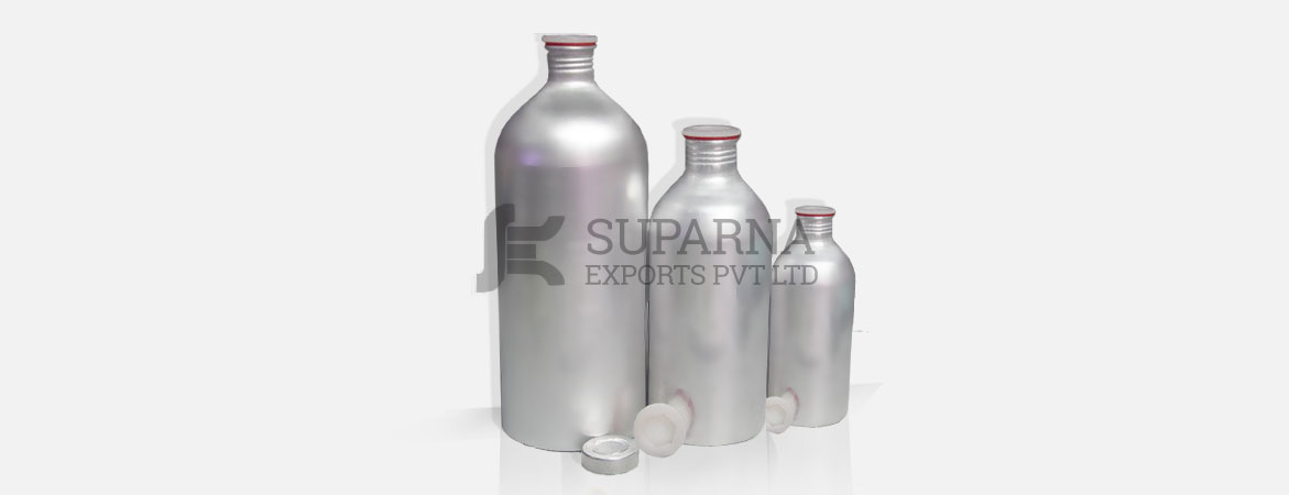 Aluminum Bottles with Screw Plugs